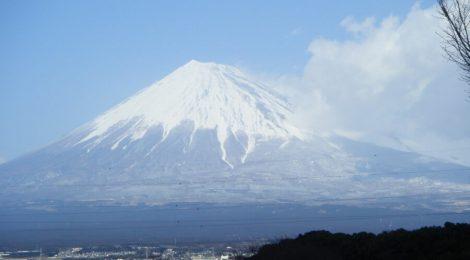 甲信越から見える冨士山