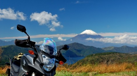 オートバイクと富士山