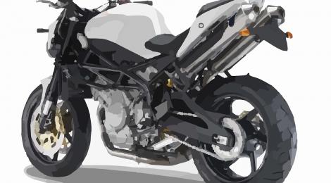 バイクの撮影構図